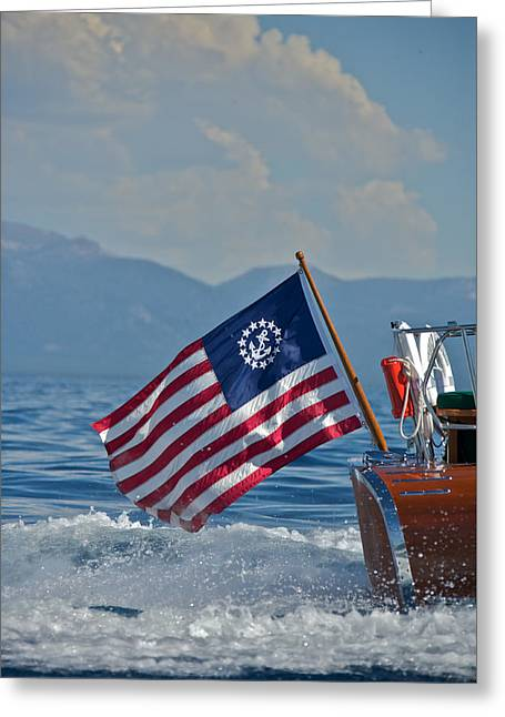 Ensign Greeting Cards - Thunderbird Ensign Greeting Card by Steven Lapkin
