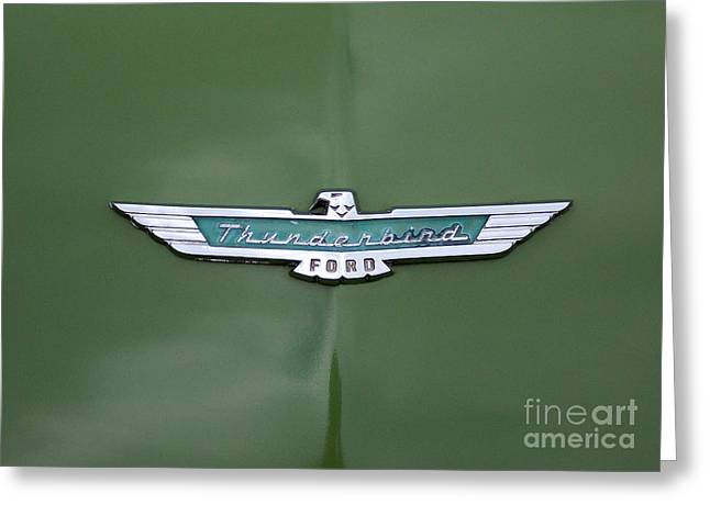 Car Part Greeting Cards - Thunderbird Greeting Card by Skip Willits