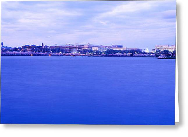 Jefferson Greeting Cards - Tidal Basin Washington Dc Greeting Card by Panoramic Images