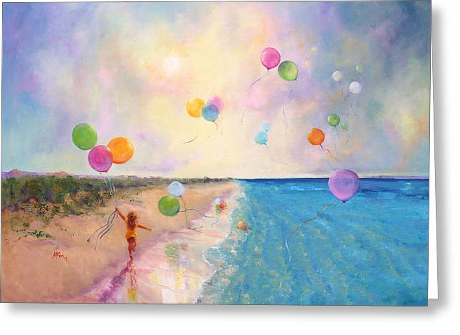 Marie Green Greeting Cards - Tide of Dreams Greeting Card by Marie Green