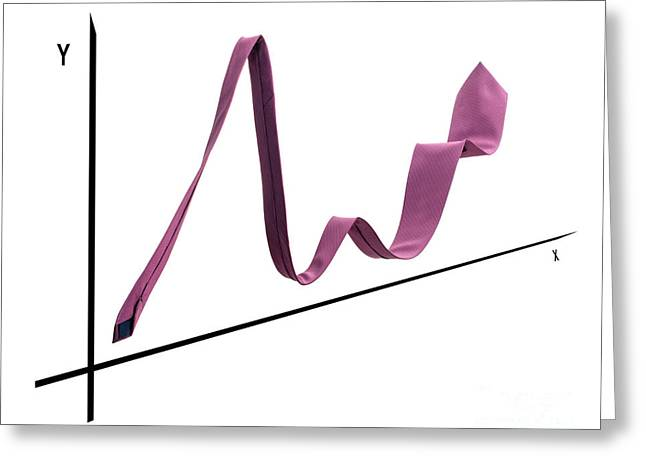 Line Graph Greeting Cards - Tie graph Greeting Card by Sinisa Botas