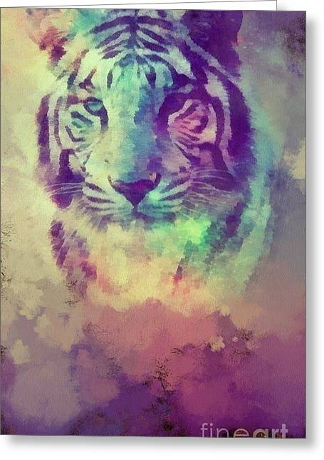 The Tiger Greeting Cards - Tiger Greeting Card by Catherine Lott