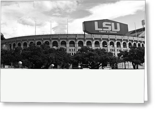 Lsu Greeting Cards - Tiger Stadium Panorama Greeting Card by Scott Pellegrin