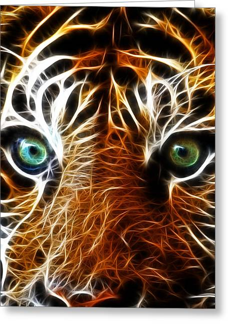 Growling Greeting Cards - Tiger Greeting Card by Steve McKinzie