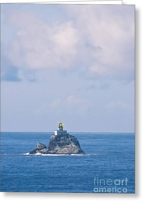 Tillamook Lighthouse Greeting Cards - Tillamook Rock Lighthouse Greeting Card by Richard and Ellen Thane