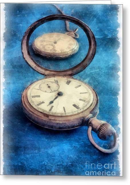 Time Greeting Card by Edward Fielding