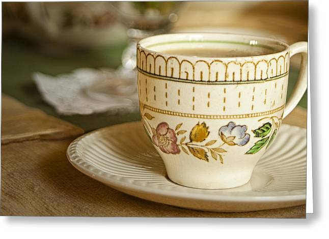Tea Cup Greeting Cards - TIme for Tea Greeting Card by Andrew Soundarajan