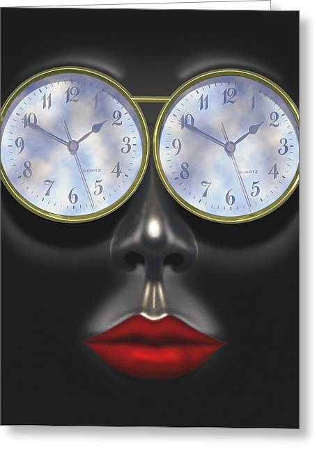 Imaginative Art Greeting Cards - Time In Your Eyes Greeting Card by Mike McGlothlen