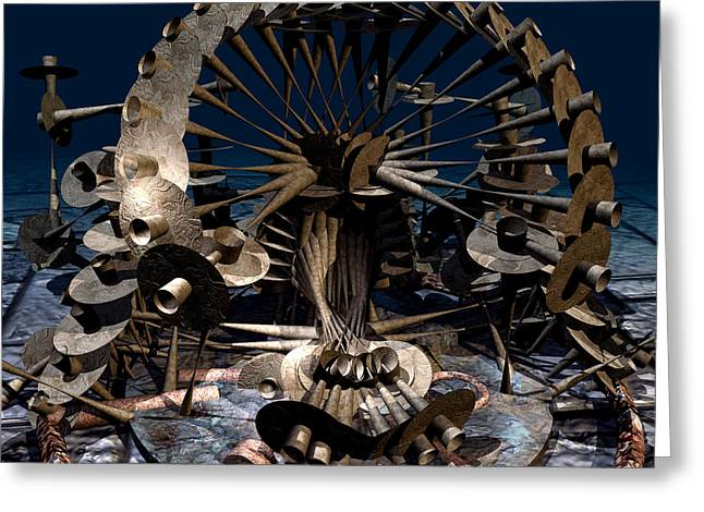 Lucent Dreaming Greeting Cards - Time Machine Greeting Card by Nikola Durdevic