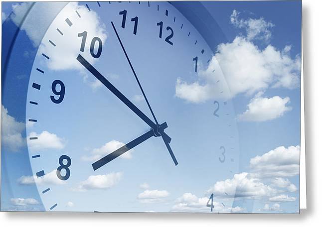 Clouds Photographs Digital Art Greeting Cards - Time passing Greeting Card by Les Cunliffe