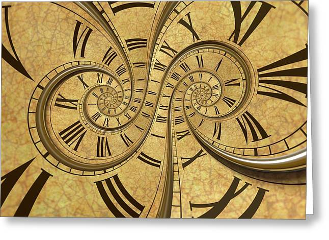 Time Spiral Greeting Card by David Parker