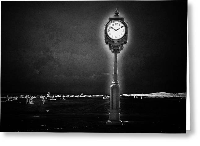 York Beach Greeting Cards - Time Stands Still Greeting Card by Natasha Marco