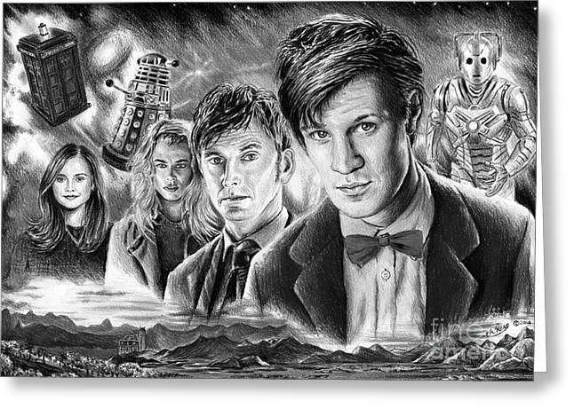 Popular Drawings Greeting Cards - Time Travel Greeting Card by Andrew Read