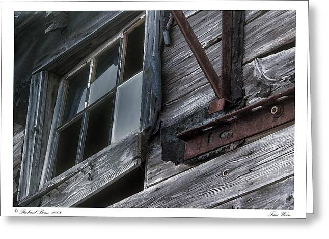 Old Maine Barns Greeting Cards - Time Worn Greeting Card by Richard Bean