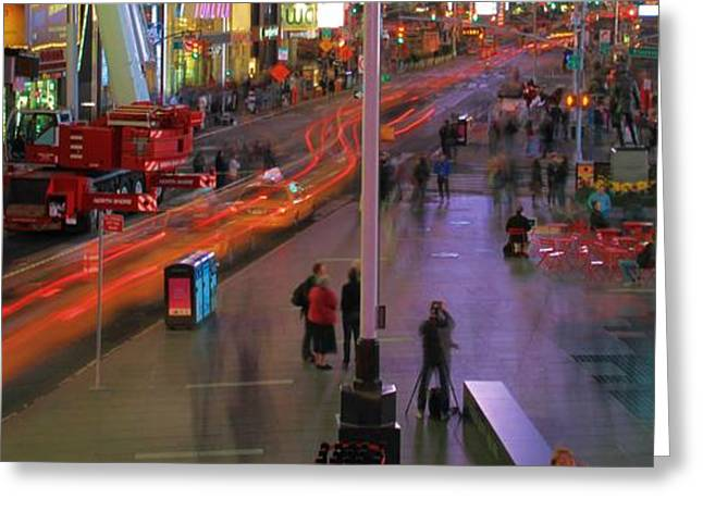 Famous Photographer Greeting Cards - Times Square Greeting Card by Dan Sproul
