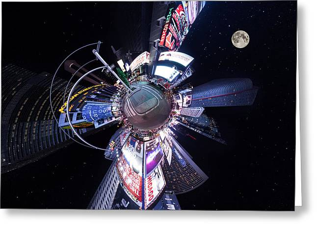 Times Square Planet Greeting Card by Georg Beyer