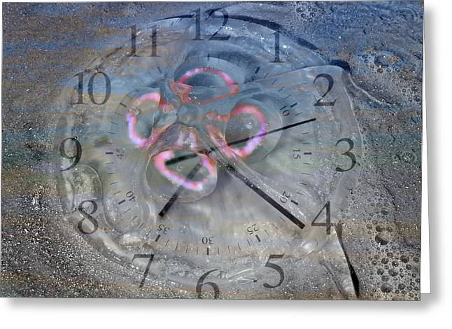 Moon Beach Digital Art Greeting Cards - Timing Greeting Card by Betsy A  Cutler