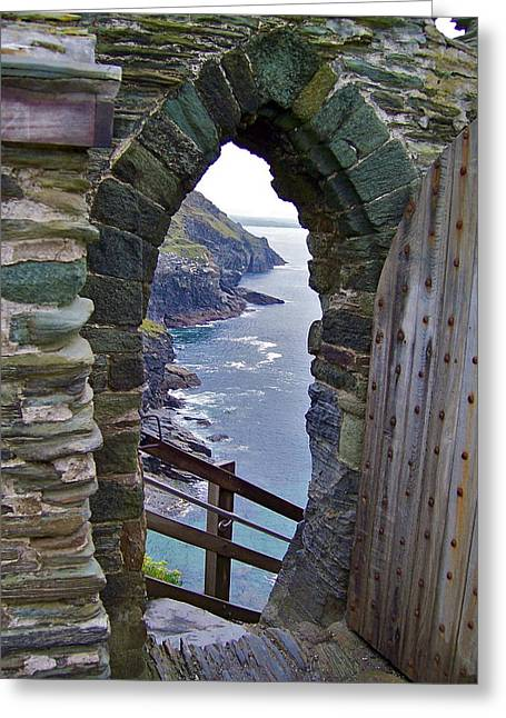 Tintagel Portal Greeting Card by Denise Mazzocco