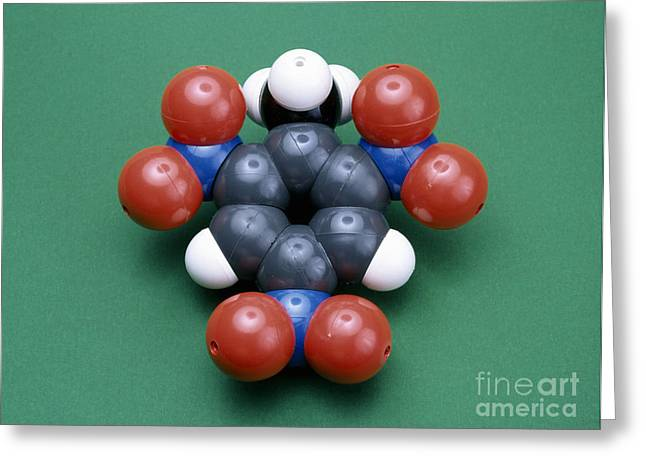 Organic Greeting Cards - Tnt Molecule Greeting Card by Andrew Lambert Photography