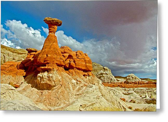 Toadstools Digital Greeting Cards - Toadstools Trail in Grand Staircase-Escalante National Monument-Utah  Greeting Card by Ruth Hager