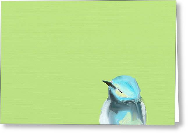 Blue Bird Greeting Cards - Todays Bird Greeting Card by Cathy Walters