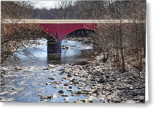 Point Pleasant Greeting Cards - Tohickon Creek Aqueduct Point Pleasant Greeting Card by Bill Cannon