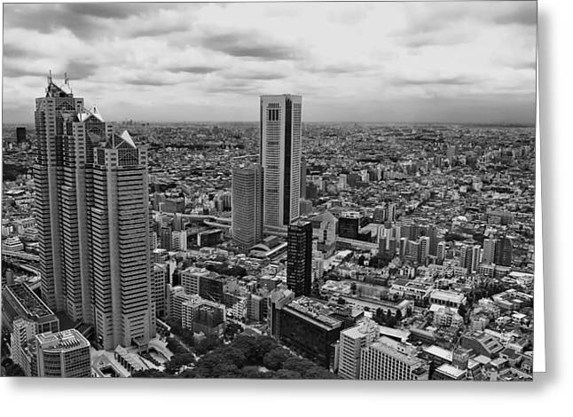 """""""japan City"""" Greeting Cards - Tokyo Greeting Card by Mountain Dreams"""