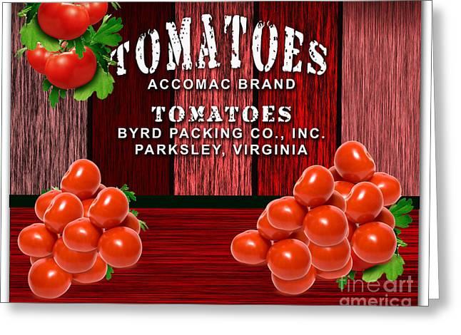 Vegetable Greeting Cards - Tomato Farm Greeting Card by Marvin Blaine