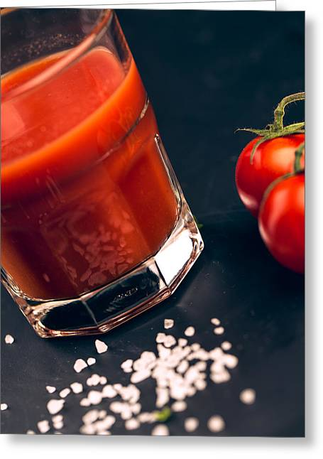 Tomato Juice Greeting Card by Nailia Schwarz