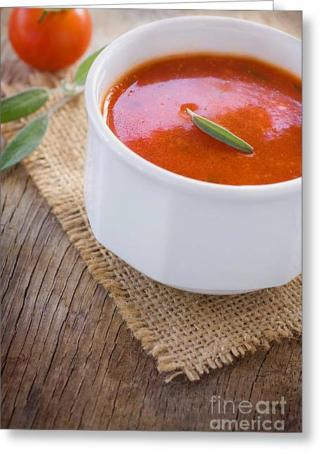 Mythja Greeting Cards - Tomato soup Greeting Card by Mythja  Photography