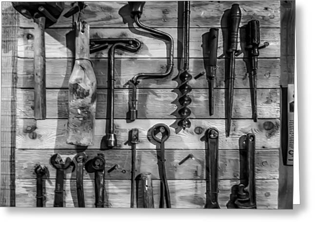 Wooden Shed Greeting Cards - Tools of the Trade Greeting Card by Mountain Dreams