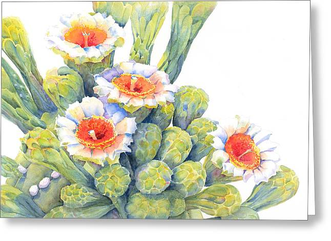 Award Winning Art Greeting Cards - Top Bloomers Greeting Card by Deb  Harclerode