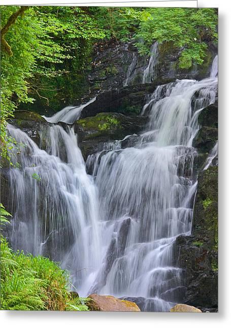 Jane Mcilroy Greeting Cards - Torc Waterfall Killarney Ireland Greeting Card by Jane McIlroy
