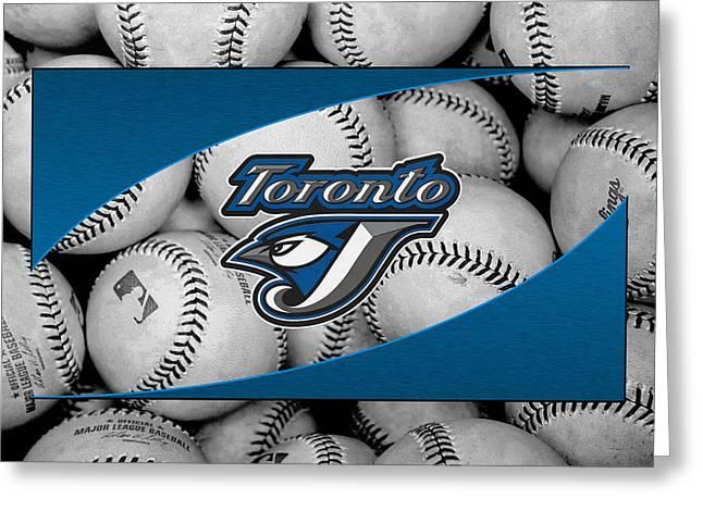 Blue Jay Greeting Cards - Toronto Blue Jays Greeting Card by Joe Hamilton
