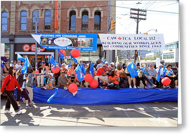 Labor Day Greeting Cards - Toronto Labor Day Parade Greeting Card by Valentino Visentini