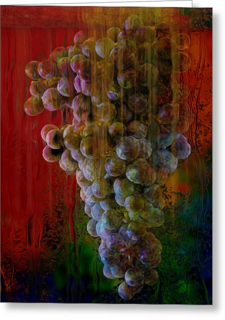 Warp Greeting Cards - Touch Of The Grape Greeting Card by Jack Zulli