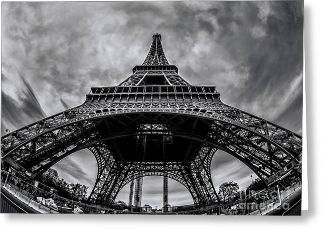 City Art Greeting Cards - Tour Eiffel from below Greeting Card by Alessandro Carpentiero