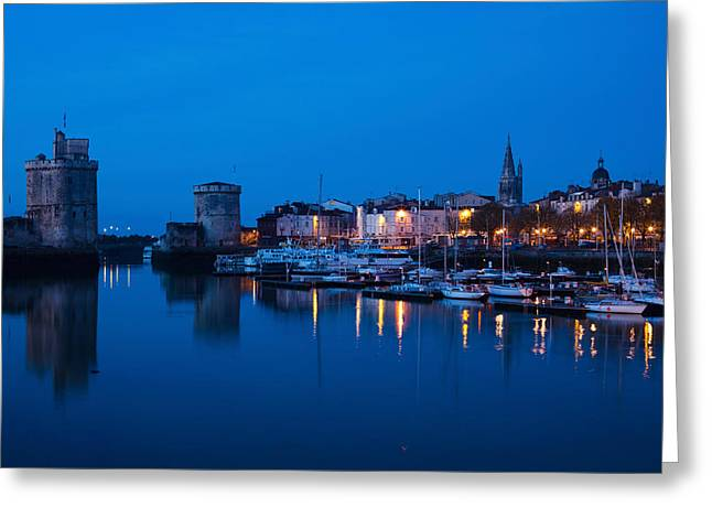 Sailboat Images Greeting Cards - Tour St-nicholas And Tour De La Chaine Greeting Card by Panoramic Images