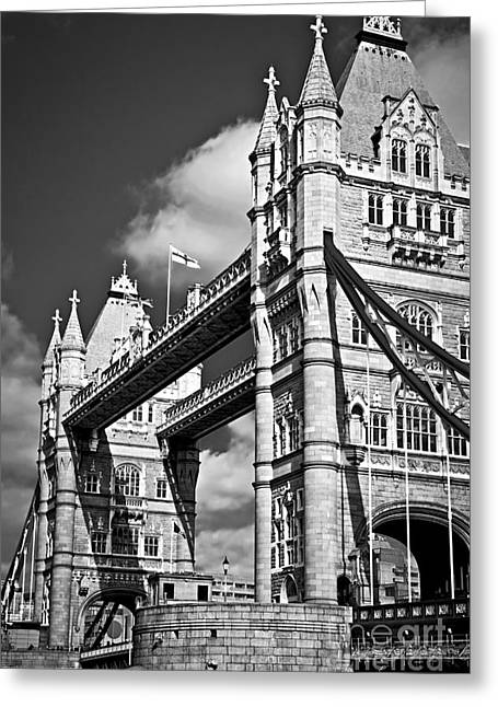 Landmark And Bridges Greeting Cards - Tower bridge in London Greeting Card by Elena Elisseeva
