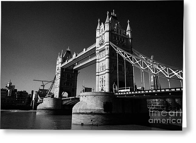 Famous Bridge Greeting Cards - tower bridge London England UK Greeting Card by Joe Fox