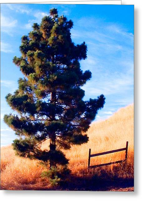 Mountain Road Greeting Cards - Tower of Strength Greeting Card by Ron Regalado