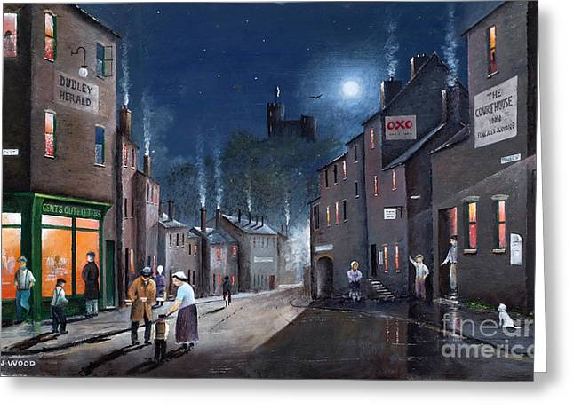 Recently Sold -  - Old Street Greeting Cards - Tower Street Dudley C1930s Greeting Card by Ken Wood
