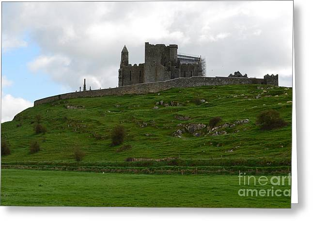 Towering Rock Of Cashel Greeting Card by DejaVu Designs