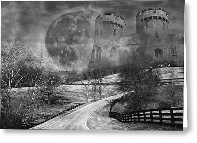 Interesting Clouds Greeting Cards - Towers on the Hill Greeting Card by Betsy C  Knapp