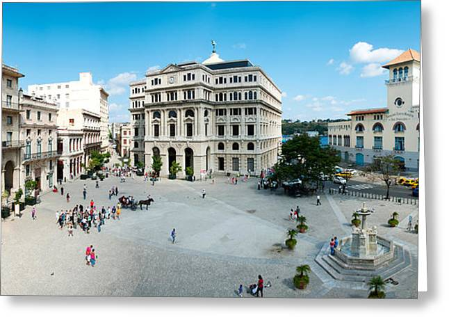 Francis Greeting Cards - Town Square, Plaza De San Francisco Greeting Card by Panoramic Images