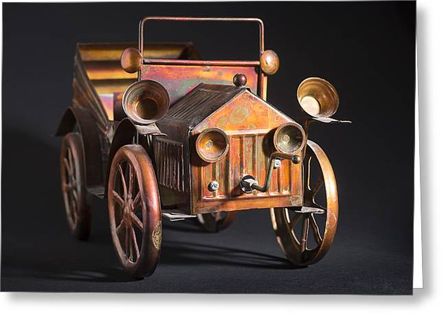 Collectors Toys Greeting Cards - Toy Car Greeting Card by Donald  Erickson