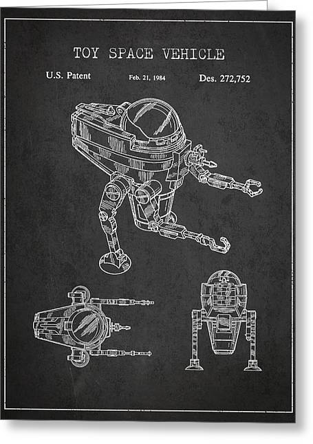 Starwars Greeting Cards - Toy Space Vehicle Patent Greeting Card by Aged Pixel