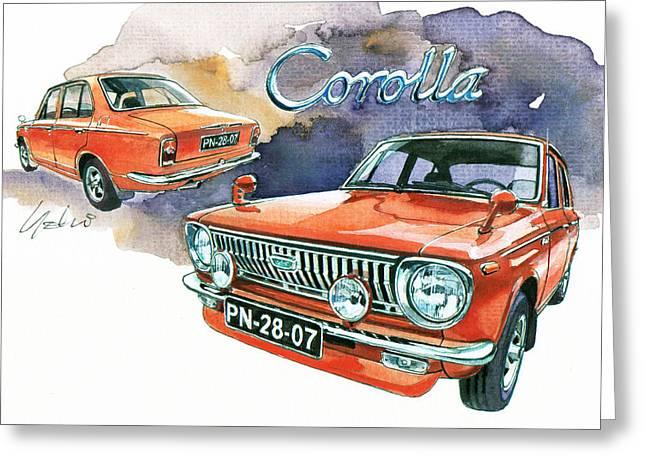 1st Greeting Cards - Toyota Corolla Greeting Card by Yoshiharu Miyakawa