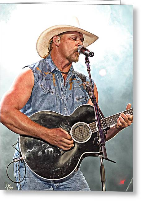 Brentwood Tennessee Greeting Cards - Trace Adkins Greeting Card by Don Olea