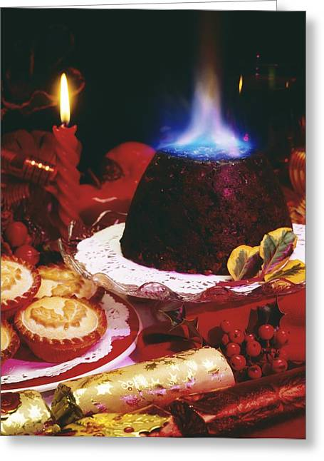 Indoor Still Life Greeting Cards - Traditional Christmas Dinner In Ireland Greeting Card by The Irish Image Collection